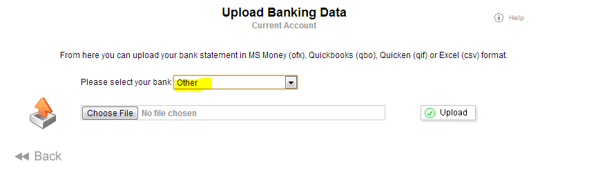 Upload Bank Statement and Manually Map Columns - howto - QuickFile