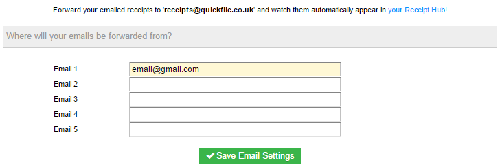 email us your receipts document management quickfile