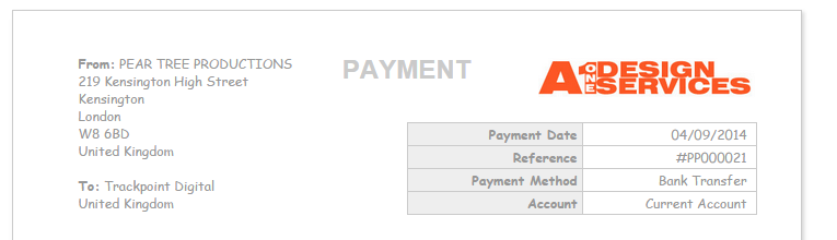 Purchase and sales payment CSS - Advanced Customisation