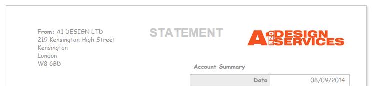 Client statement CSS - Advanced Customisation - QuickFile