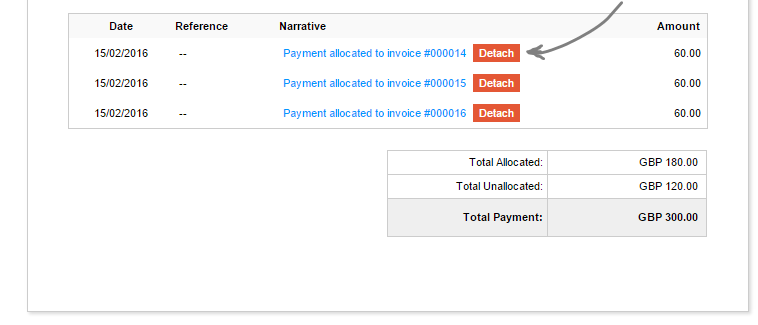 Detaching payment allocations and renaming payment slips – Payment Slips