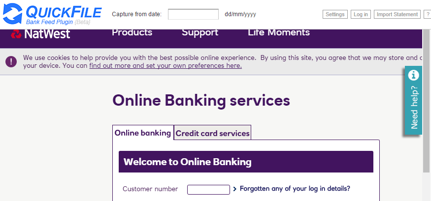 Natwest bankline chrome plugin bank feed set up integrations pasted image875x409 356 kb reheart Choice Image