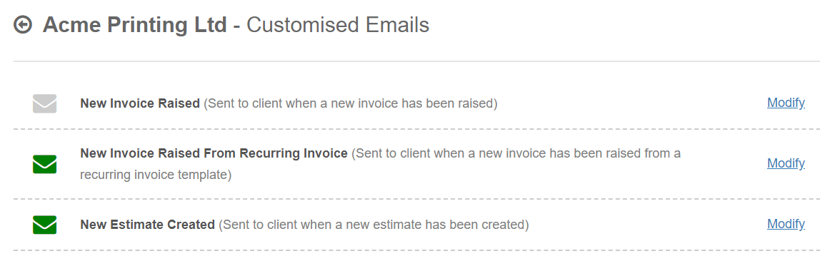 Email Template Enhancements Blog QuickFile - Invoice email to client