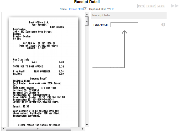 the receipt hub document management quickfile