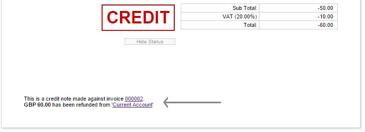 Managing credit notes invoicing quickfile credit noting an unpaid balance altavistaventures Choice Image
