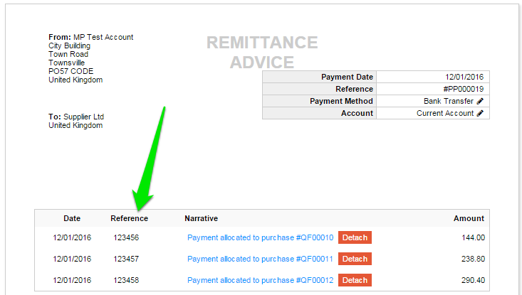 Show invoice date on Supplier Payment Remittance Advice Under – Remittance Advice Slip