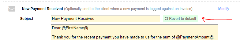 Payment Notification Emails Payments Quickfile
